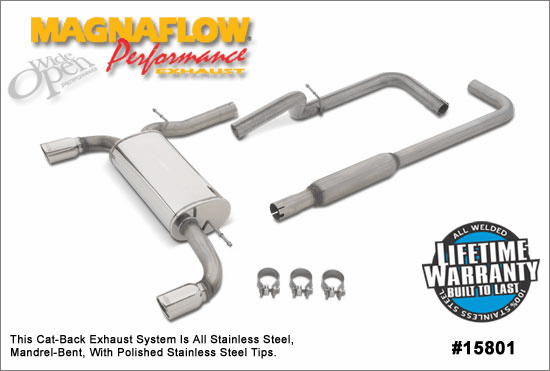 Magnaflow Cat-Back Exhaust System Part # 15801 for the 2000 - 2006 Dodge Neon