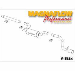 Magnaflow Cat Back Exhaust System Part # 15864 for the 2004 - 2006 Ford Focus ZX4