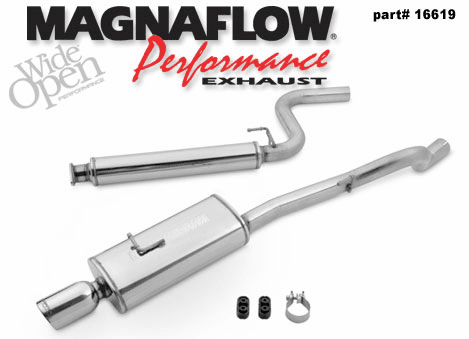 Magnaflow Cat-Back Exhaust System PART #: 16619 for the 2005 - 2007 Chevrolet Cobalt SS