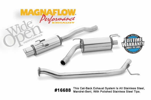 Magnaflow Cat-Back Exhaust System Part # 16688 for the 2006-2007 Honda Civic Si