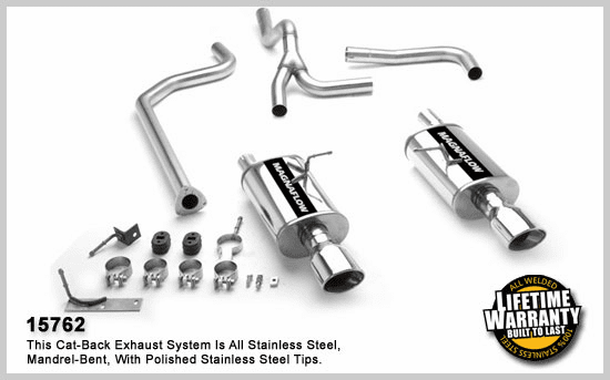 Magnaflow Dual Rear Exit Cat-Back Exhaust System for the 1996 - 2005 Chevrolet Cavalier and Pontiac Sunfire