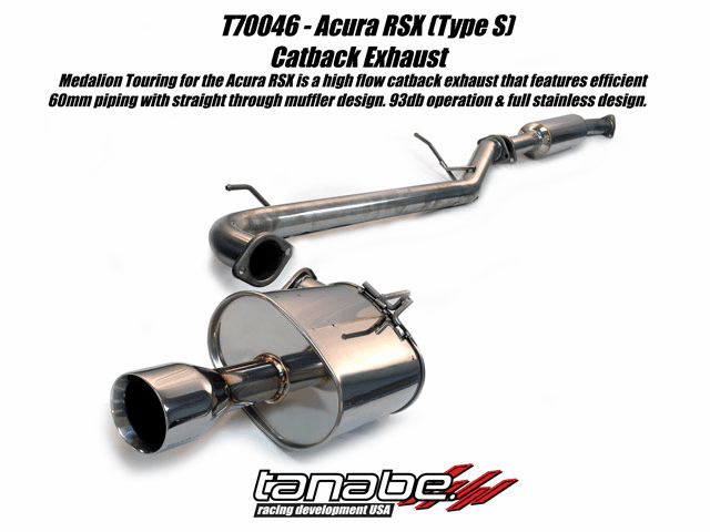 Tanabe Medalion Touring Exhaust System Part # T70046 for the 2002 - 2006 RSX Type S