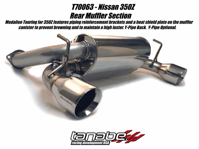 Tanabe Medalion Touring Exhaust System Part # T70063 for the 2003 - 2007 Nissan 350Z