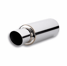 Vibrant TVP Universal Turbo Muffler with 2.5 inch inlet Part # 1057