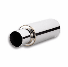 Vibrant TVP Universal Turbo Muffler with 3 inch inlet and round straight cut tip Part # 1059