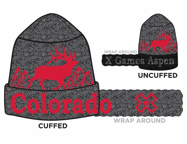 "X GAMES ASPEN 2018 | ""TRACKS"" CUFFABLE BEANIE"