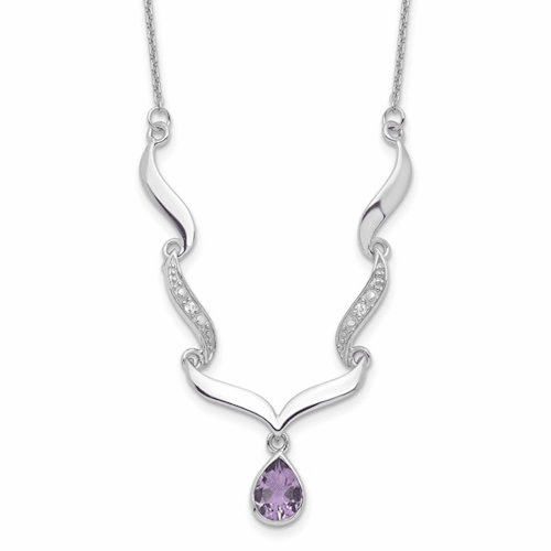 Amethyst and White Topaz Necklace