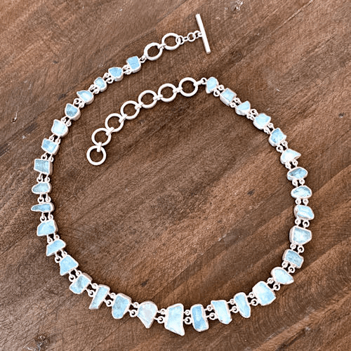 Aquamarine Natural Cut Necklace