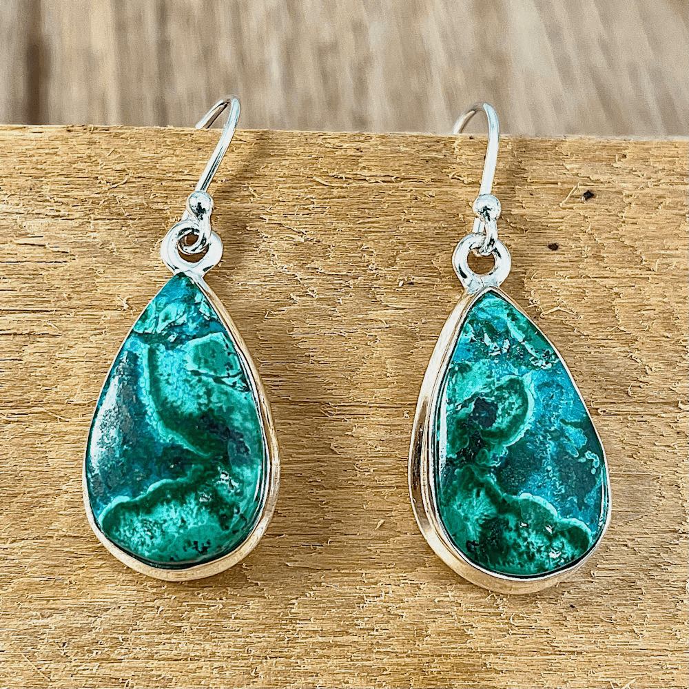 Azurite Teardrop Earrings
