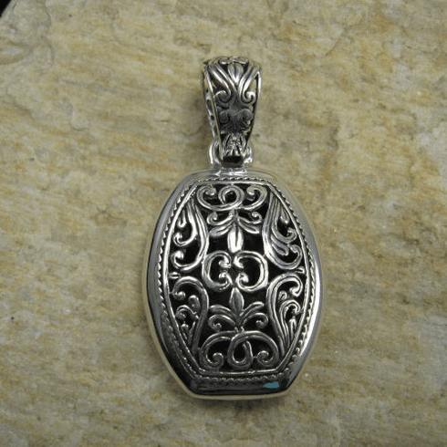 Barrel Shape Open Fill Pendant