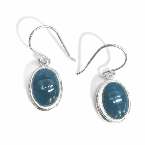 Blue Apatite Oval Earrings