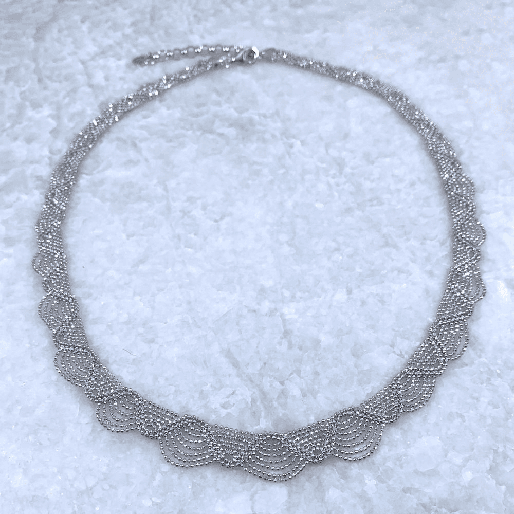 Diamond Cut Bead Chain Necklace