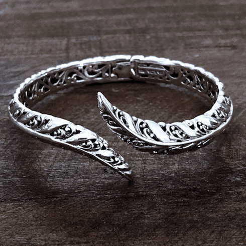Filigree Hinged Cuff Bracelet