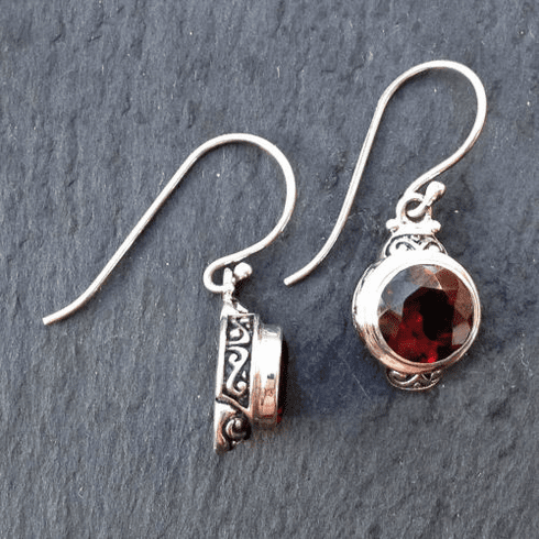 Garnet Filigree Dangles