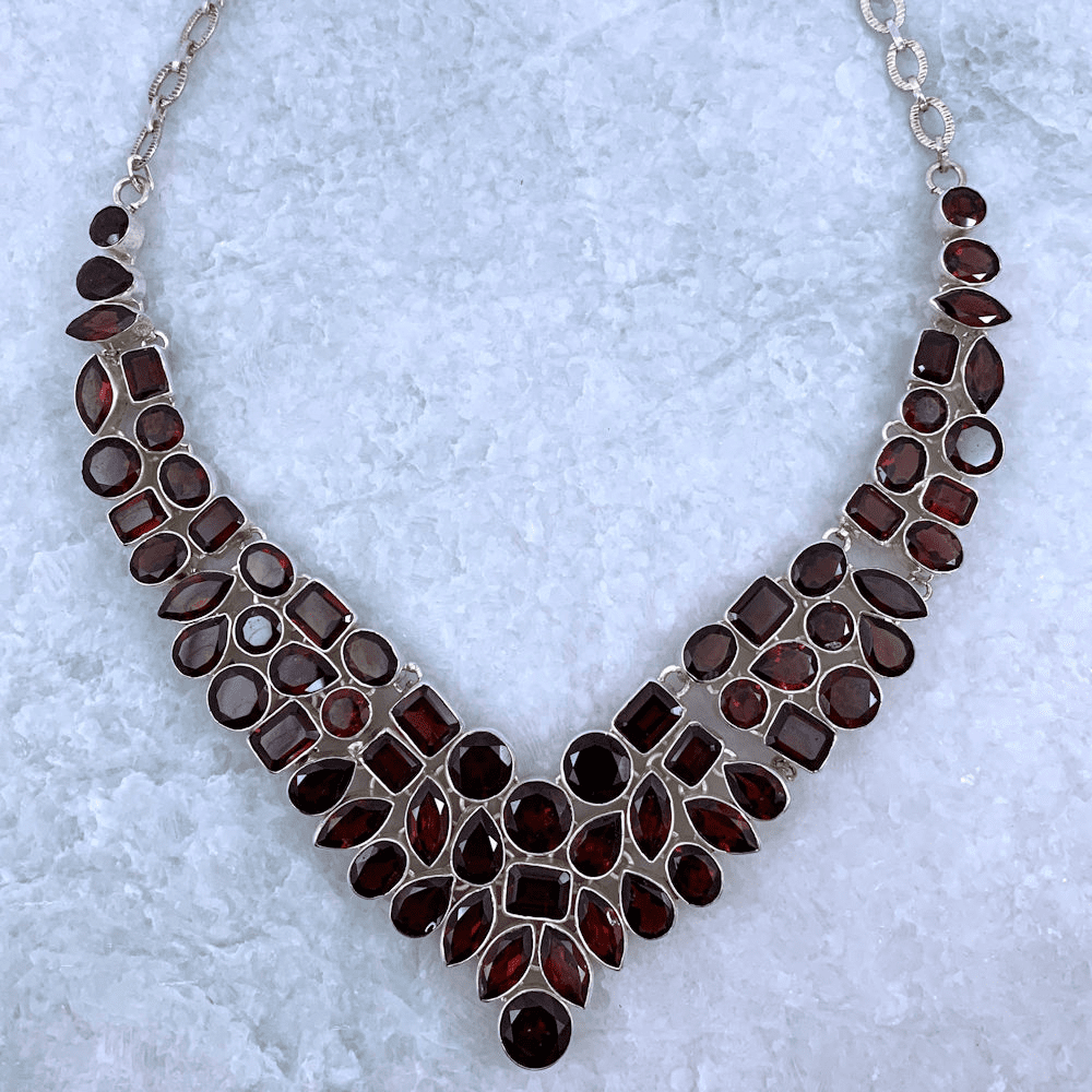 Garnet Multishape Necklace