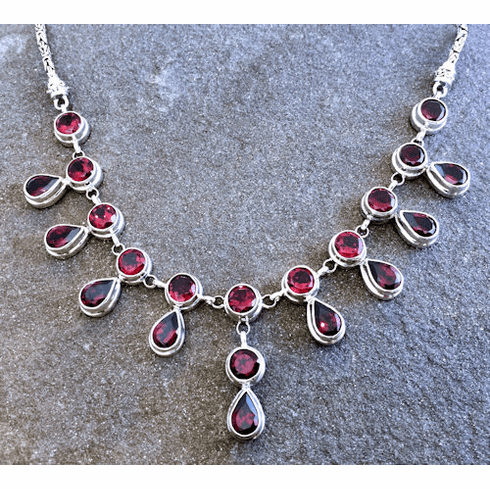 Garnet Spray Necklace