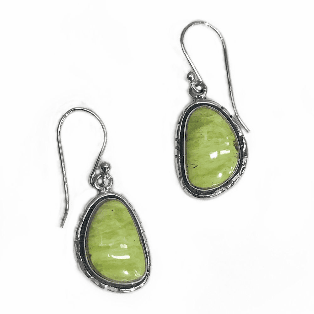 Gaspeite Navajo Earrings