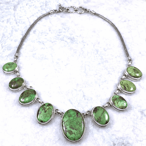 Gaspeite Ovals Necklace