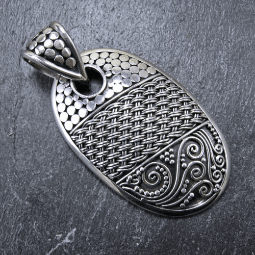 Indonesian Oval Pendant