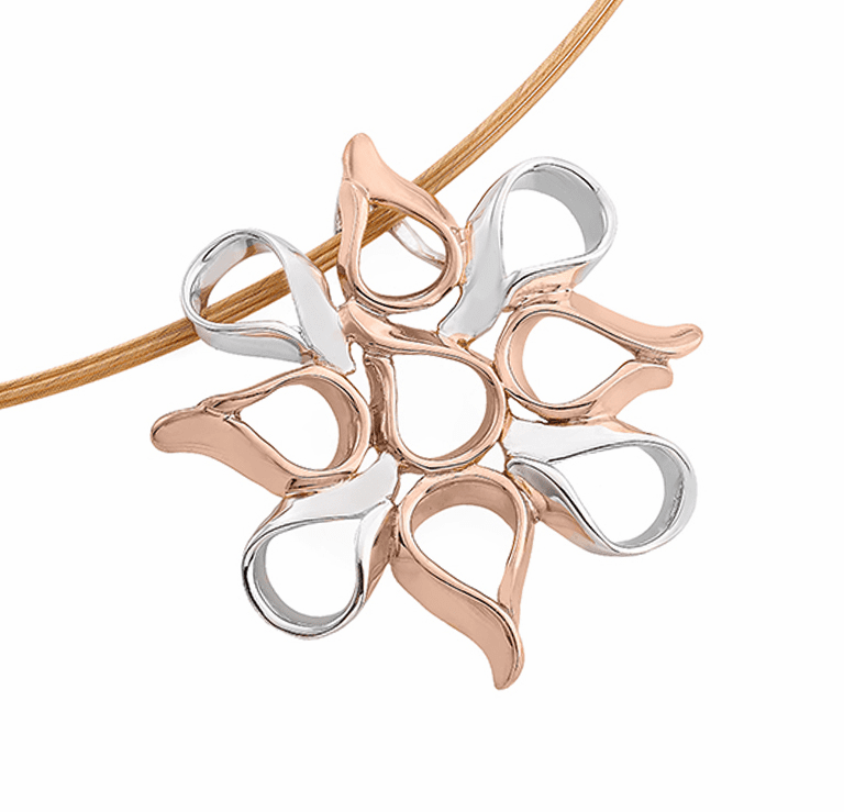 Jorge Revilla Rose Gold Flames Pendant