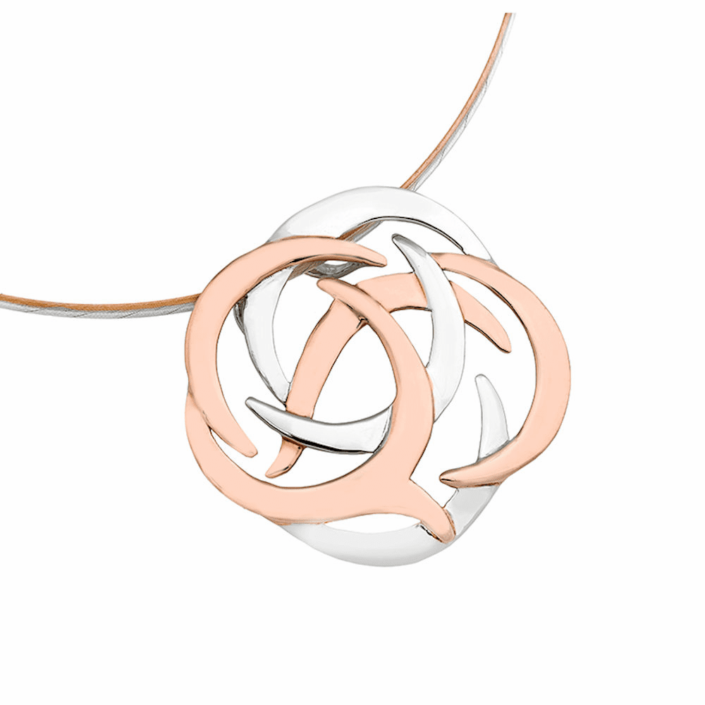 Jorge Revilla Rose Gold Shield Pendant