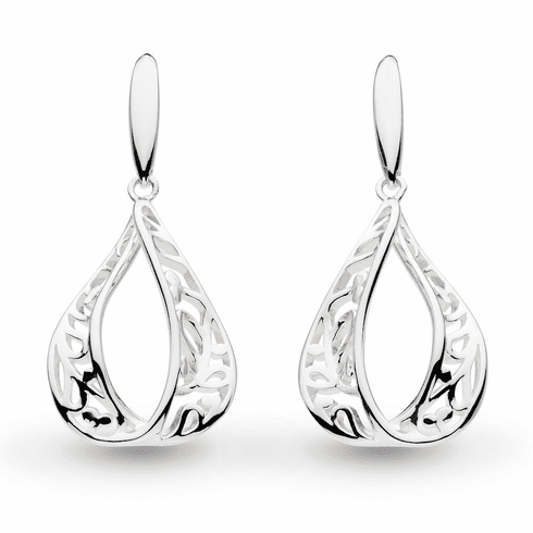Kit Heath Flourish Teardrop Earrings