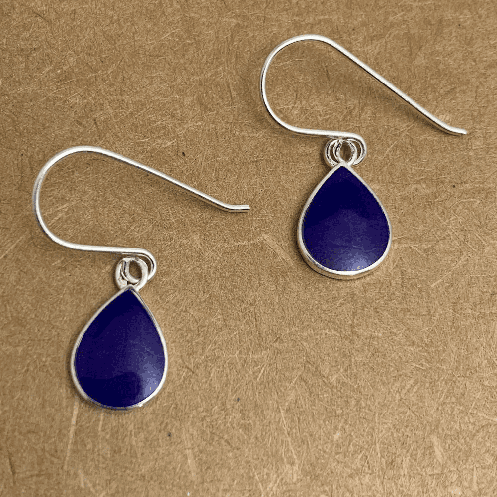 Lapis Teardrop Earrings