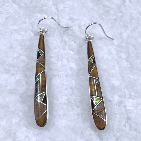 Long Multistone Teardrop Earrings