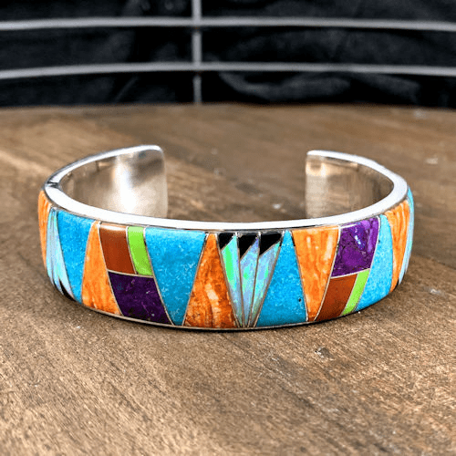 Multistone Inlay Cuff