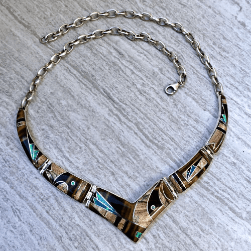 Multistone Inlay Necklace