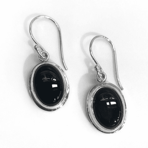 Onyx Oval Earrings