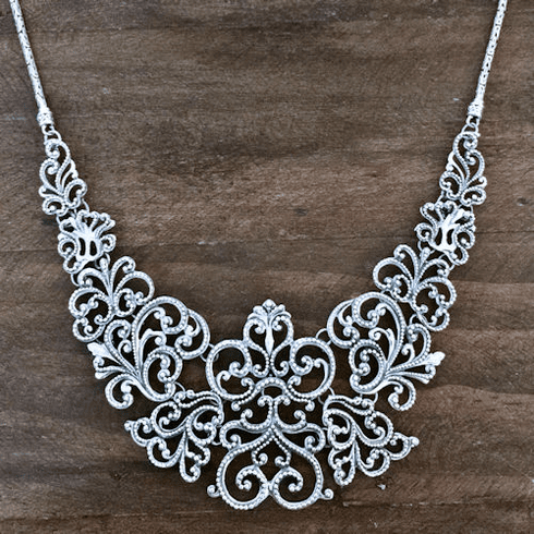 Open Filigree Necklace