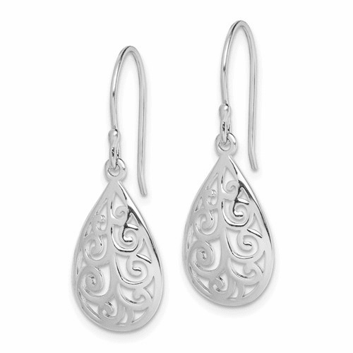 Open Teardrop Swirls Earrings