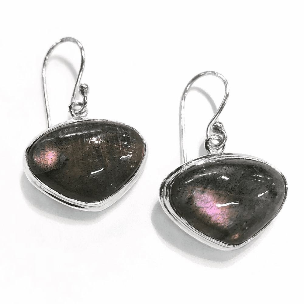 Purple Labradorite Earrings