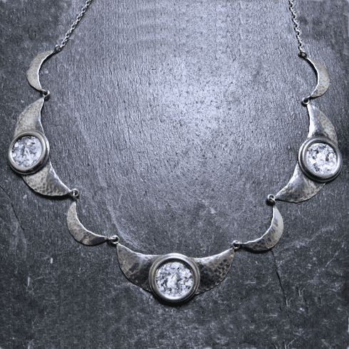 Roman Glass Hammered Necklace