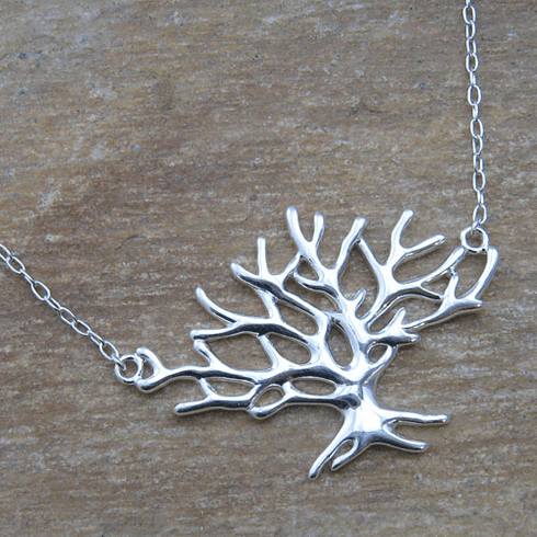 Silver Tree Pendant with Chain
