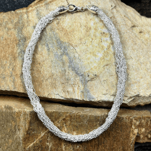 Sixteen Strand Faceted Bead Necklace