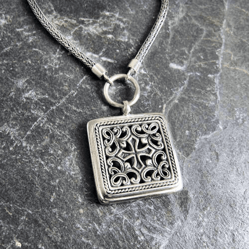 Square Filigree Necklace