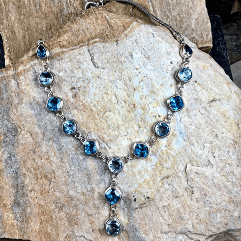 Swiss and Sky Blue Topaz Necklace