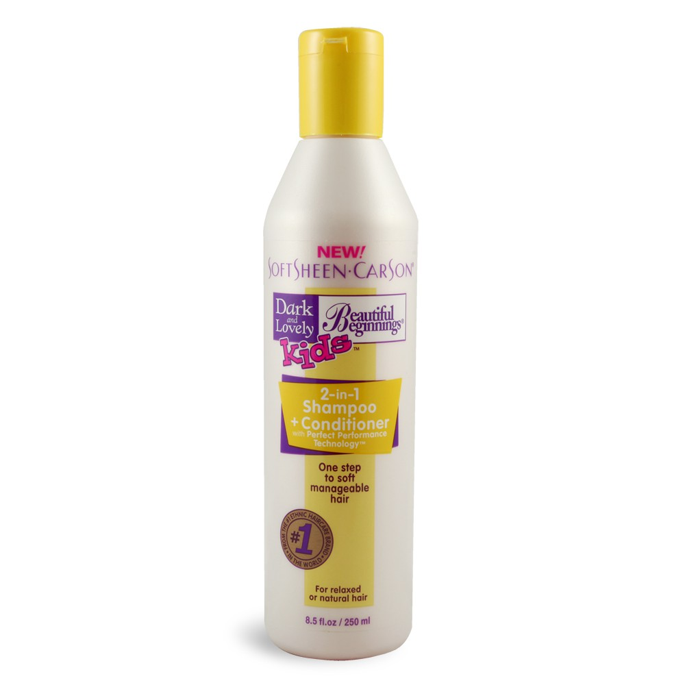 Dark and Lovely Beautiful Beginnings Kids 2-In-1 Shampoo and Conditioner  8.5 OZ
