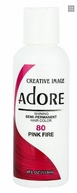 Adore Semi-Permanent Hair Color 80 PINK FIRE 4 oz