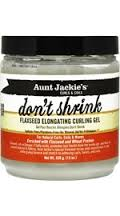 Aunt Jackie's Curls & Coils Don't Shrink Flaxseed Elongating Curling Gel 15 OZ