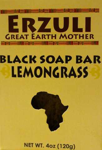ERZULI BLACK SOAP BAR - LEMONGRASS 4 oz