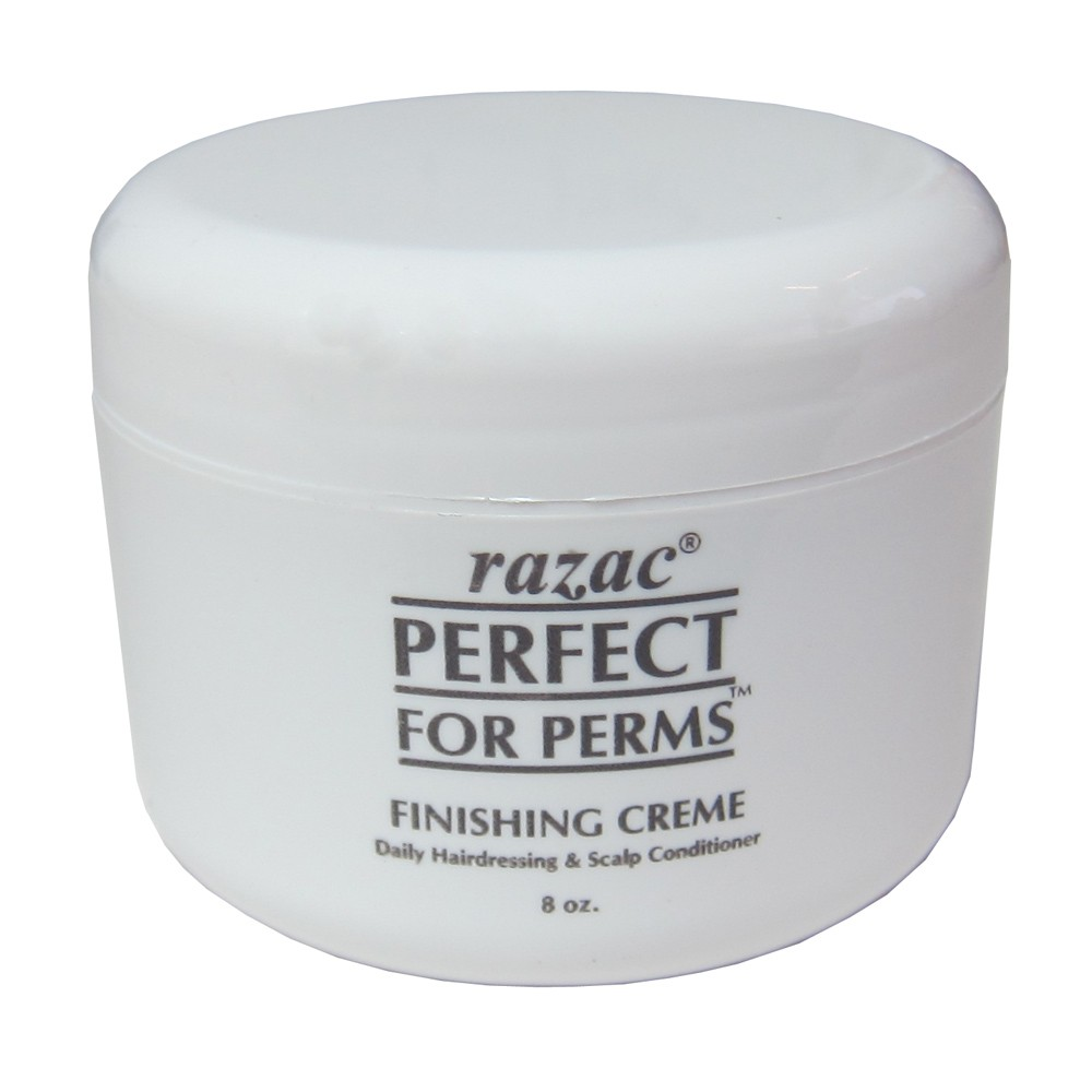 Razac Perfect for Perms Finishing Creme Daily Hairdressing And Scalp Conditioner 8 Oz