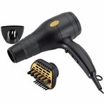 GOLD 'N HOT Professional 1875 Watt Ionic Dryer With Duetto Styler GH2240