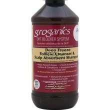 GROGANICS DEEP FREEZE FOLLICLE CLEANSER AND SCALP ABSORBENT SHAMPOO 8oz