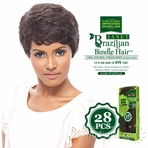 Janet Collection 100% Unprocessed Remy Human Hair Weave - BRAZILIAN NATURAL WEFT 28 PCS