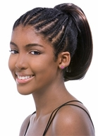 Model Model Glance Draw String Ponytail Poshteen