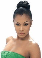 MODEL MODEL GLANCE  Synthetic Hair Bun RASPBERRY - LARGE