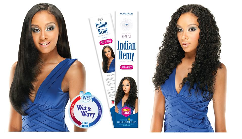 Model Model Remist INDIAN REMY LONG LOOSE DEEP 4PCS-Wet N Wavy